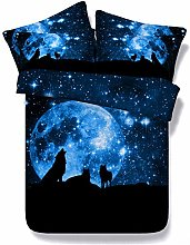 RoyalLinens 3 pieces blue night sky bed set with