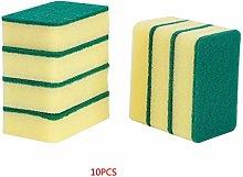 royalr 10pcs Round Corner Sponge Double Sided