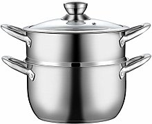 ROYWY Steamer Stainless Steel Pot, with Tempered