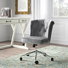 Roze Ergonomic Desk Chair Blue Elephant Upholstery