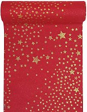 RP RIBBON Polyester table runner Red with shiny