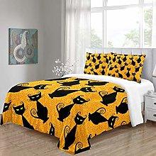 RQXRTR Duvet Cover Single Bed 3 Pieces 3D Black