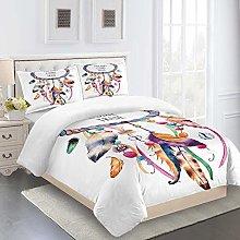 RQXRTR Duvet Cover Single Bed 3 Pieces 3D Color