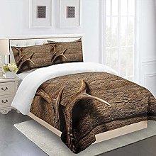 RQXRTR Duvet Cover Single Bed 3 Pieces 3D Elk