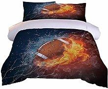 RQXRTR Duvet Cover Single Bed 3 Pieces 3D Flame
