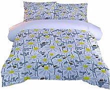 RQXRTR Duvet Cover Single Bed 3 Pieces 3D Flower