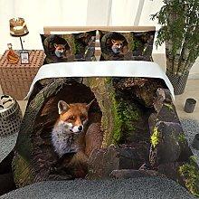 RQXRTR Duvet Cover Single Bed 3 Pieces 3D Forest