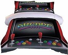 RQXRTR Duvet Cover Single Bed 3 Pieces 3D Game