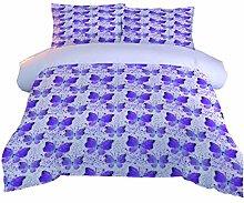 RQXRTR Duvet Cover Single Bed 3 Pieces 3D Purple