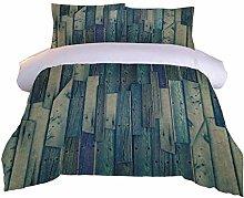 RQXRTR Duvet Cover Single Bed 3 Pieces 3D Vintage