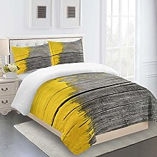 RQXRTR Duvet Cover Single Bed 3 Pieces 3D Yellow
