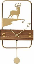 rrff Wall Clocks Large Wall Clock Gold Pendulum
