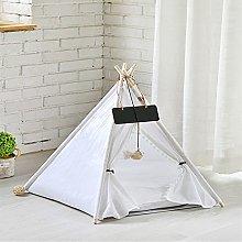 Rsaljldp Pet Pad,Portable Linen Pet Tent Dog House