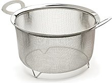 RSVP Wide Rim VEGETABLE STEAMER Mesh Basket