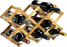 RTA 10 Bottle Collapsible Bamboo Wine Rack