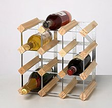 RTA 12 Bottle Traditional Wine Rack-Kit-Natural