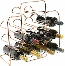 RTA 14 Bottle Neat Metal Wine Rack - Rose Gold