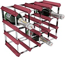 RTA 16 Bottle Traditional Wine Rack-Kit-Rosewood