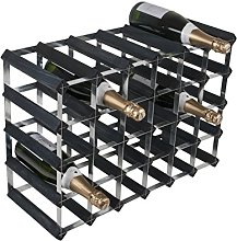 RTA 30 Btl 6x4 Black Ash Pine/Assembled Wine Rack