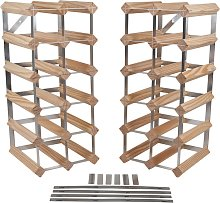 RTA 33 Bottle 6 in 1 Flexi Wooden Wine Rack.