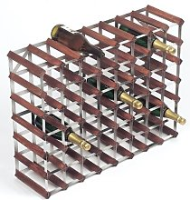 RTA 56 Bottle Traditional Wine Rack-Kit-Dark Pine