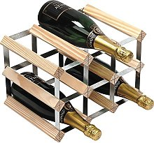 RTA 9 Bottle Traditional Wine Rack-Kit-Natural