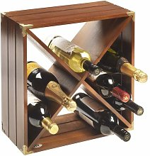 RTA Wine Rack, Dark Wood, 12 bottles