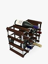 RTA Wood Wine Rack, 16 Bottle
