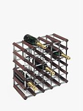 RTA Wood Wine Rack, 30 Bottle, Dark Pine