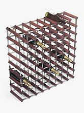 RTA Wood Wine Rack, 72 Bottle, Dark Pine