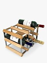 RTA Wood Wine Rack, 9 Bottle