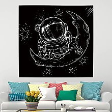RTEAQ Tapestry Astronaut Moon Mandala Tapestry
