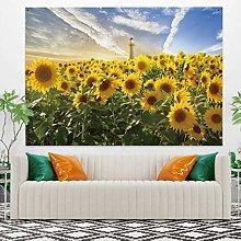 RTEAQ Tapestry Beautiful Natural Sunflower Field