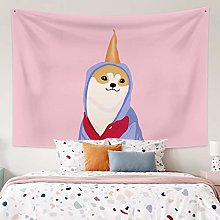 RTEAQ Tapestry Cute Dog Tapestry Wall Hanging Kids