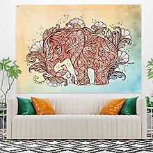 RTEAQ Tapestry Elephant Mandala Tapestry Wall