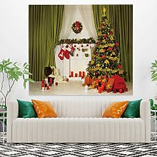 RTEAQ Tapestry Fashion Tapestry Christmas Socks
