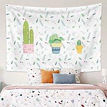 RTEAQ Tapestry Fresh Green Plants Printed Large