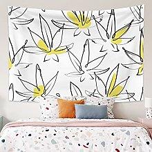 RTEAQ Tapestry Leaf Tapestry For Living Room