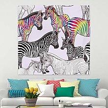 RTEAQ Tapestry Mandala Tapestry Painting Zebra