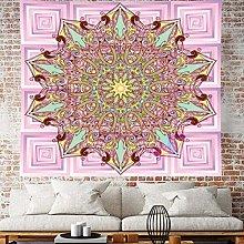 RTEAQ Tapestry Mandala Wall Hanging Macrame Purple
