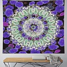 RTEAQ Tapestry Mandala Wall Hanging Purple Macrame