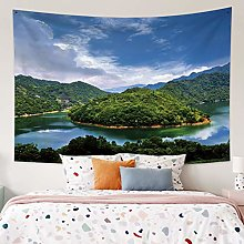 RTEAQ Tapestry Natural Forest Printed Large Wall