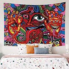 RTEAQ Tapestry Psychedelic Tapestry Monster Wall