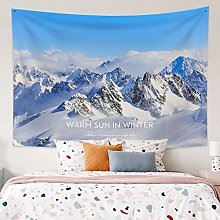 RTEAQ Tapestry Snow Mountain Wall Tapestry Home