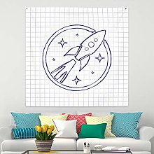 RTEAQ Tapestry Space Ship Tapestry Wall Hanging