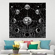 RTEAQ Tapestry Sun Moon Hippies Tapestry Wall