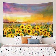 RTEAQ Tapestry Sunflower Wall Decorative