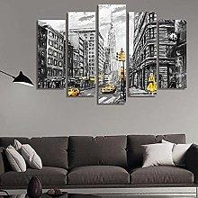 RTFGF Canvas Wall Art Print For Home Decor black