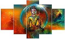 RTFGF Canvas Wall Art Print For Home Decor Buddha