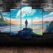 RTFGF Canvas Wall Art Print For Home Decor Human